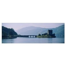 Castle at the lakeside, Eilean Donan Castle, Loch  Framed Print